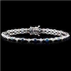 18K White Gold 1.98ctw Fancy Color Diamond Bracele