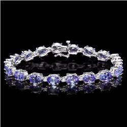 `14k Gold 19.5ct Tanzanite 0.80ct Diamond Bracelet