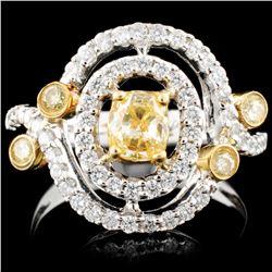 18K Gold 1.11ctw Fancy Color Diamond Ring