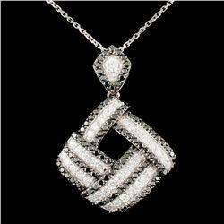 14K Gold 1.63ctw Fancy Color Diamond Pendant