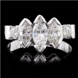 14K Gold 1.62ctw Diamond Ring