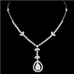 18K White Gold 2.65ctw Diamond Necklace