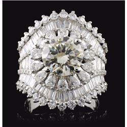 18K White Gold 4.88ctw Diamond Ring