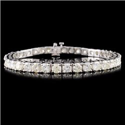 14K Gold 10.00ctw Diamond Bracelet