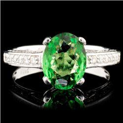 14K Gold 1.74ct Tsavorite & 0.45ctw Diamond Ring