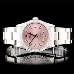 Rolex SS 31MM Oyster Perpetual Diamond Watch