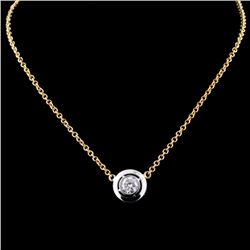 18K Two Tone 0.33ct Diamond Pendant