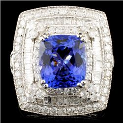 18K Gold 3.44ct Tanzanite & 1.58ctw Diamond Ring
