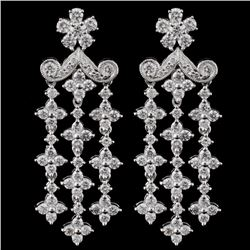 18K White Gold 2.38ct Diamond Earrings