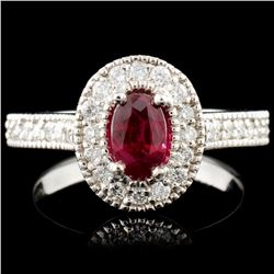 14K Gold 0.76ct Ruby & 0.62ctw Diamond Ring