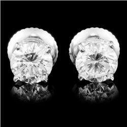 14K Gold 1.16ctw Diamond Earrings