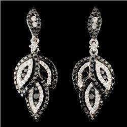 14K Gold 1.47ctw Fancy Color Diamond Earrings
