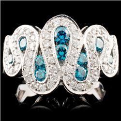 14K Gold 1.25ctw Fancy Color Diamond Ring