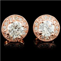 14K Gold 1.29ctw Diamond Earrings