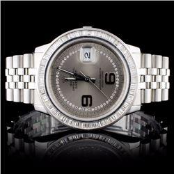 Rolex SS DateJust Men's 2.50CT Diamond Wristwatch