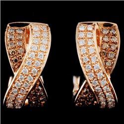 14K Gold 0.39ctw Fancy Diamond Earrings