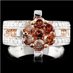14K Gold 1.97ctw Fancy Color Diamond Ring