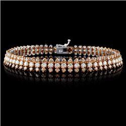 18K White Gold 6.66ctw Fancy Color Diamond Bracele