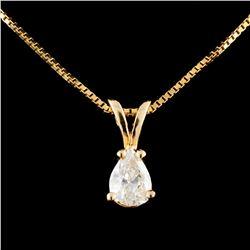 14K Gold 0.42ctw Diamond Pendant