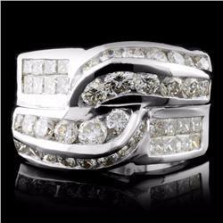 18K White Gold 2.18ctw Diamond Ring