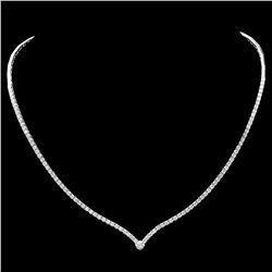 ^18k White Gold 3.50ct Diamond Necklace