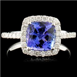 14K Gold 1.61ct Tanzanite & 0.42ctw Diamond Ring