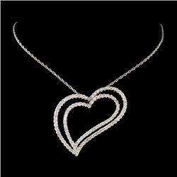 18K White Gold 1.52ctw Diamond Necklace