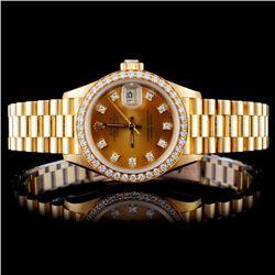 Rolex 18K YG Ladies 1.00ct Diamond Wristwatch