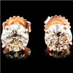 14K Rose Gold 2.03ctw Diamond Earrings