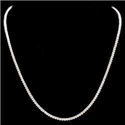 ^18k White Gold 6.00ct Diamond Necklace