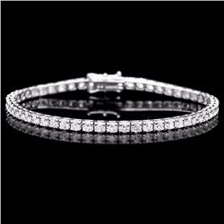^18k White Gold 4.50ct Diamond Bracelet