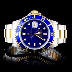 Rolex YG/SS Submariner Men's Wristwatch
