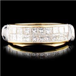 18K Gold 0.93ctw Diamond Ring