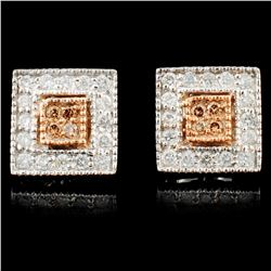 14K Gold 0.45ctw Fancy Diamond Earrings