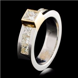 14K TT Gold 0.86ctw Diamond Ring