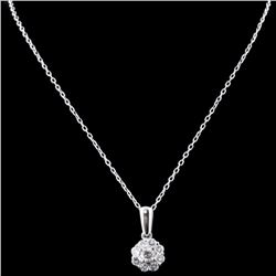 18K White Gold 0.54ctw Diamond Pendant