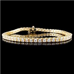 14K Gold 4.00ctw Diamond Bracelet