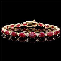 `14k Gold 15ct Ruby 0.60ct Diamond Bracelet
