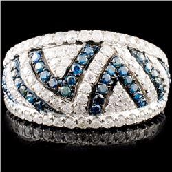 18K Gold 1.10ctw Fancy Color Diamond Ring