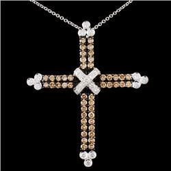 18K Gold 1.39ctw Fancy Diamond Pendant