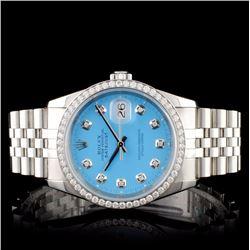 Rolex SS DateJust 1.00ct Diamond Men's Watch