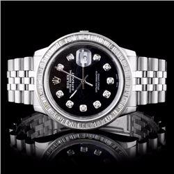 Rolex SS DateJust 2.50CT Diamond Wristwatch