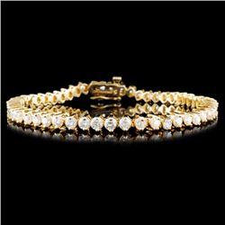 14K Gold 5.00ctw Diamond Bracelet