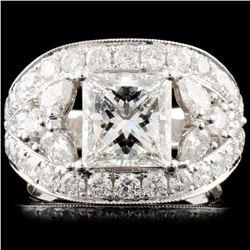 18K Gold 3.88ctw Diamond Ring