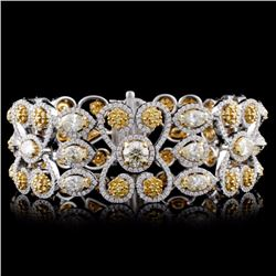 18K White/Yellow Gold 30ct Diamond Bracelet