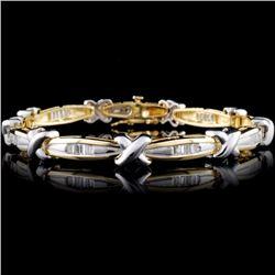 14K TT 1.24ct Ladies Diamond Bracelet