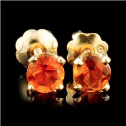 14K Gold 0.78ctw Citrine Earrings