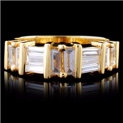 14K Yellow Gold 0.99ctw Diamond Ring
