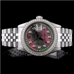 Rolex SS DateJust Men's 1.50ct Diamond Wristwatch