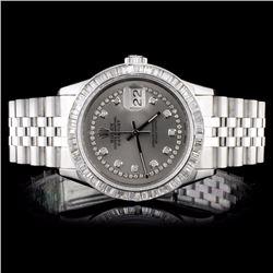 Rolex SS DateJust 3.50ct Diamond Men's Watch